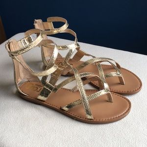 Circus by Sam Edelman gold gladiator sandals 8.5